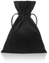 J.W.Anderson Black Pleated Leather Drawstring Bag