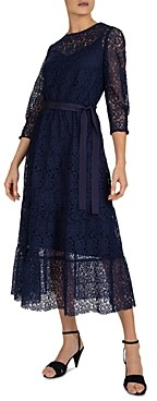 Gerard Darel Sveva Lace A-Line Dress