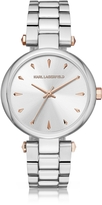 Karl Lagerfeld Aurelie Stainless Steel Women's Quartz Watch w/Signature Dial