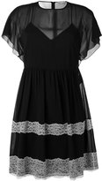 RED Valentino lace inserts dress - women - Silk/Polyester/Spandex/Elastane - 40
