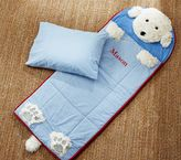 Pottery Barn Kids Shaggy Dog Sleeping Bag, Blue