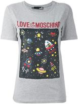 Love Moschino 'space' print T-shirt