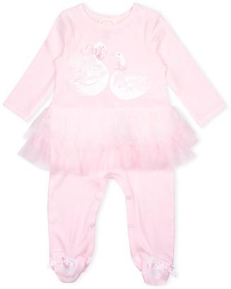Biscotti Girls' Footies PINK - Pink Swan Tutu Footie - Newborn & Infant