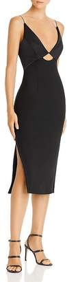 Finders Keepers Paradise Plunging Cutout Midi Dress