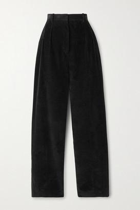 The Row Chandler Cotton-corduroy Straight-leg Pants - Black