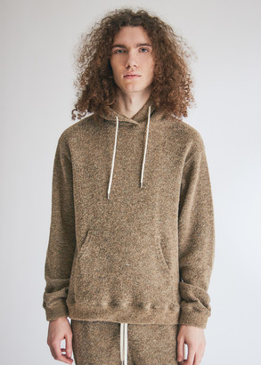 John Elliott Men's Boucle Beach Hoodie in Canyon, Size Small | Wool