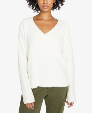 Sanctuary Fuzzy V-Neck Sweater