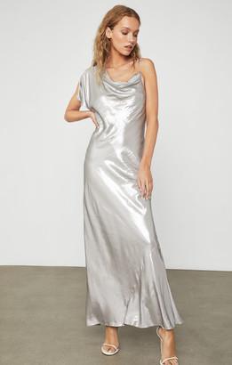 BCBGMAXAZRIA Satin One-Sleeve Gown