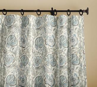 Pottery Barn Haylie Print Linen/Cotton Rod Pocket Curtain