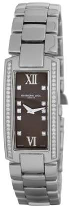 Raymond Weil Women's Quartz Brown Dial Analogue Display and Silver Stainless Steel Bracelet 1500-ST1-00775