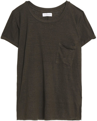 Velvet by Graham & Spencer Slub Linen-blend Jersey T-shirt