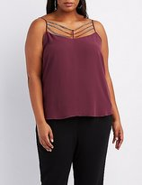Charlotte Russe Plus Size Embellished Caged Tank Top