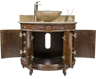 "JSG Oceana 36"" Single Bathroom Vanity Set Oceana Sink Finish: Fawn Oceana"