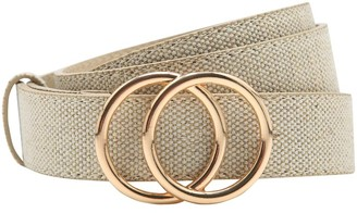 M&Co Canvas double ring belt