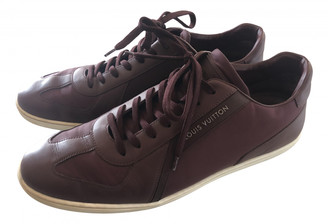 Louis Vuitton Clipper Burgundy Leather Trainers