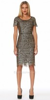NUE by Shani Floral Paisley Lace Metallic Dress