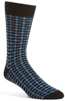 Lorenzo Uomo Men's Rigid Square Crew Socks