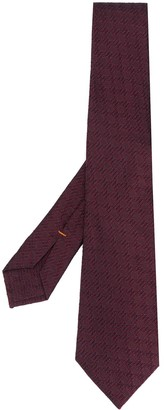 Ermenegildo Zegna Jacquard Patterned Silk Tie