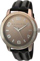 Sean John Men's 10029430 Personal & Up Close Analog Display Japanese Quartz Black Watch