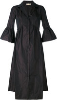 Mantu ruffled sleeves shirt dress - women - Polyester - 40