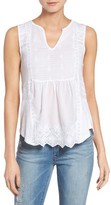 Lucky Brand Women's Mixed Media Shell