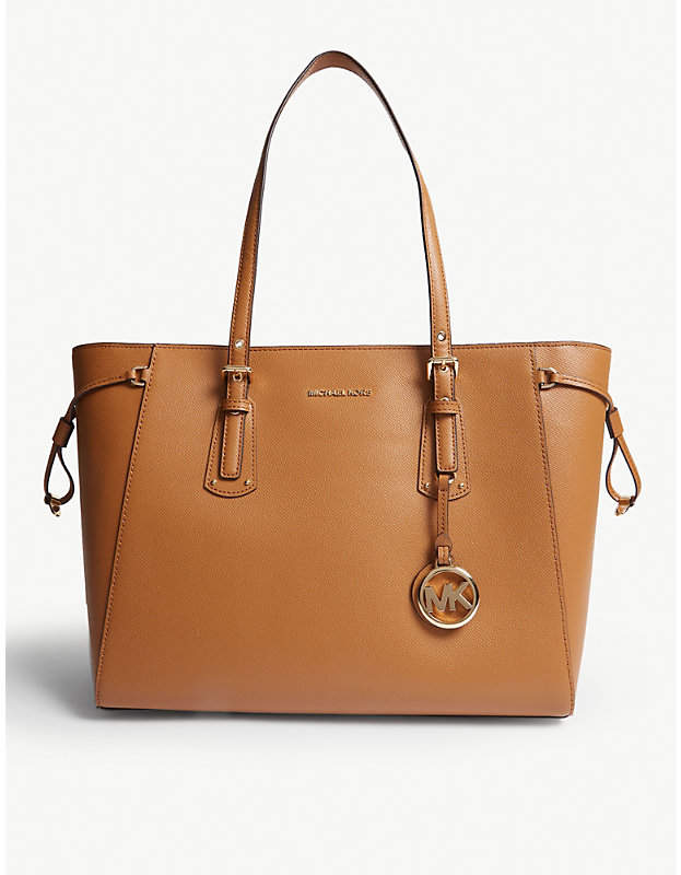 MICHAEL Michael Kors Voyager crossgrain leather tote bag