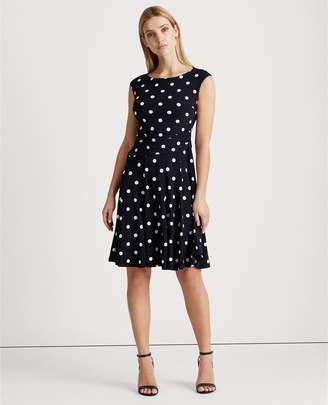 Ralph Lauren Polka-Dot Jersey Dress