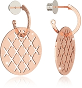 Rebecca Melrose Rose Gold Over Bronze Drop Hoop Earrings