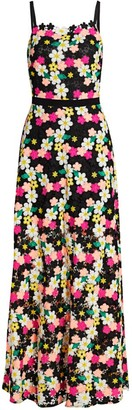Milly Floral Crochet Maxi Dress
