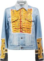 Faith Connexion glittery print denim jacket