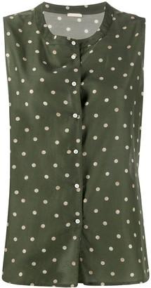 Massimo Alba Gingy polka dot blouse