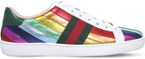 Gucci New Ace rainbow leather trainers