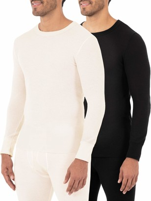 Fruit of the Loom Men's Classic Midweight Waffle Thermal Underwear Crew Top (1 & 2 Packs)