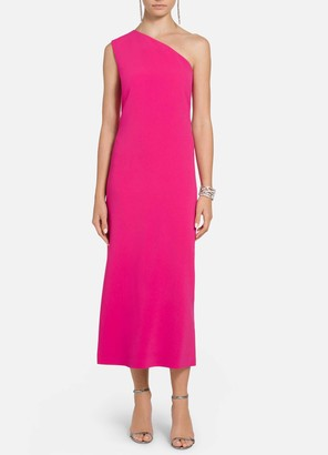 St. John Heavy Cady One Shoulder Dress