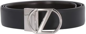 Ermenegildo Zegna Leather Belt With Buckle