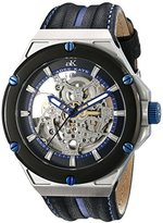Adee Kaye Men's AK2240-M/BU Le Gear Analog Display Automatic Self Wind Blue Watch