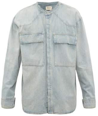 Fear Of God Faded Denim Shirt - Mens - Light Blue
