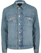 River Island Blue Relaxed Fit Denim Jacket