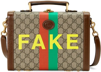 Gucci 'Fake/Not' print beauty case