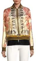 Versace Zip-Front Bomber Jacket