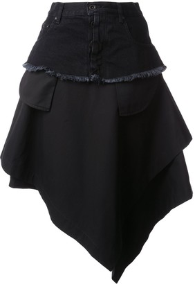 Unravel Project Asymmetric Loose Skirt