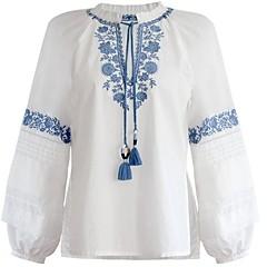 BCBGMAXAZRIA Embroidered Peasant Blouse