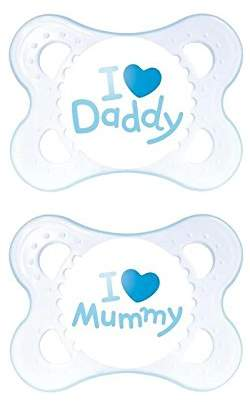 Mam Style 0+M Soother, Blue 2 per pack - Pack of 4