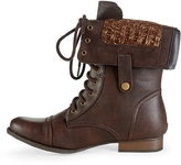 Aeropostale Sweater-Lined Foldover Combat Boot