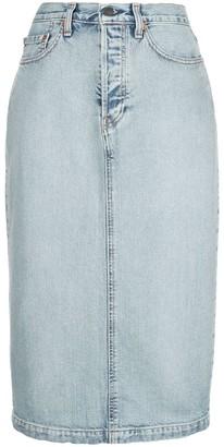 Wardrobe NYC Release 04 midi denim skirt