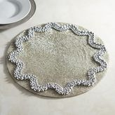 Pier 1 Imports Pewter Ripple Beaded Placemat