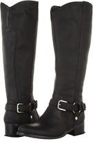 Romantic Soles Lynnea Wide Calf Boot (Black Crazy Horse) - Footwear
