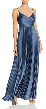 BCBGMAXAZRIA Pleated Satin Gown - 100% Exclusive