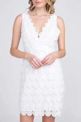 Minuet Scallop Trim Lace Dress