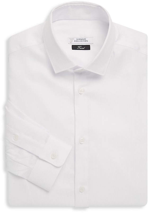 Versace Textured Stripe Dress Shirt